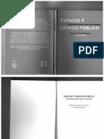 2014. Cap. de libro. Espacio y espacio publico
