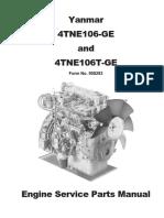 manual de partes yanmar 4tnv106