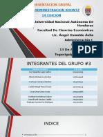 PRESENTACION GRUPAL LIBRO ADMINISTRACION KOONTZ 14 EDICION