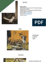 Presentación Bocetos y artistas