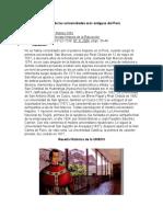Información sobre la historia de las universidades