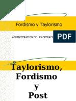 TAYLORISMO Y FORDISMO