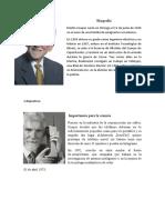 Biografía para diapositiva