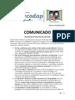 Comunicado - Finalización Del Año Escolar a Distancia