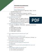 CUESTIONARIO DE AGROPECUARIA