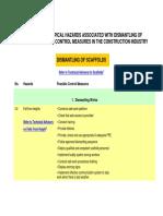 Construction Compendium (Dismantling Scaffolds)