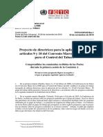 PROYECTO DE DIRECTRICES PARA APLICACIÓN DE LOS ARTÍCULOS 9 Y 10 DEL CONVENIO MARCO DE LA OMS PARA EL CONTROL DEL TABACO.pdf
