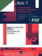 bab 7 PENGENDALIAN INTERNAL DAN RISIKO PENGENDALIAN