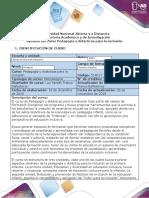 Syllabus del curso Pedagogía y didácticas para la inclusión (1)