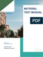 Material Test Manualnew