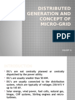 Distributed Generation and Concept of Micro-grid