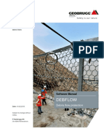 GEOBRUGG debris-flow software manual