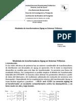 Modelado de transformadores Zigzag en Sistemas Trifásicos