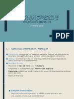 HABILIDADES  DE COMPRENSIÓN LECTORA PARA LA EDUCACIÓN SUPERIOR