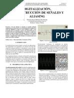 Digitalización, reconstrucción de señales y aliasing
