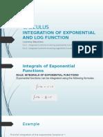 INTEGRATION OF EXP N LOG FUNCTION