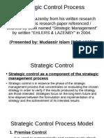 Strategic Control Process