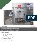 Hazard Communication Program Liquid Nitrogen