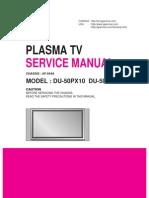 LG DU-50PX10 Plasma TV Service Manual