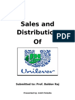 Sales and Distribution of HUL