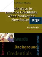Enhance Credibility When Marketing Newsletters