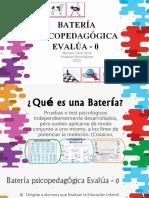Batería Evalúa 0 - presentación