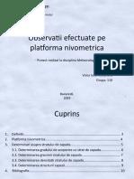 12. Observatii efectuate pe platforma nivometrica