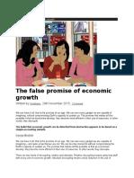 The false promise of economic growth