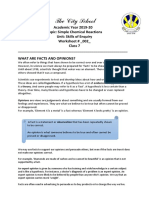 Simple Chemical Reactions -- Worksheet 2