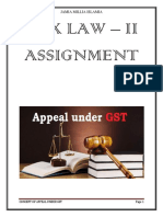 concept of appeal under GST