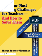 Sheryn Spencer-Waterman - Four Most Baffling Challenges for Teachers and How to Solve Them, The_ Classroom Discipline, Unmotivated Students, Underinvolved or Adversarial Parents, and Tough Working Con.pdf