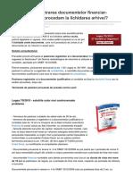 contabilul.manager.ro-Arhivarea si pastrarea documentelor financiar-contabile Cum procedam la lichidarea arhivei