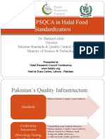 Role of PSQCA in Halal Food Standardization