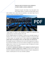 EFECTO POSITIVO PARA EL AMBIENTE DEL COVID 19