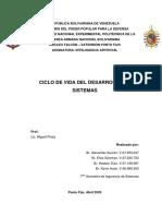 Ciclo de Vida del desarrollo de sistemas