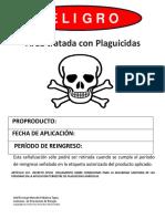 Área tratada con Plaguicidas