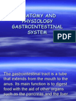 ANATOMY AND PHYSIOLOGY GASTROINTESTINAL SYSTEM