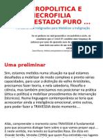 APRESENTAÇÃO NECROPOLITICA E NECROFILIA EM ESTADO PURO.pptx