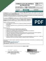 F-SSC-002 Formato acta de entrega de proyectos v1.3 ZonaPAGOS Utrahuilca
