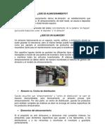 ALMACENAMIENTO, TEMPERATURA DE ALMACENAMIENTO Y CHECK LIST.