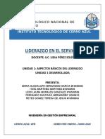 UNIDAD 1 ASPECTOS BASICOS DEL LIDERAZGO