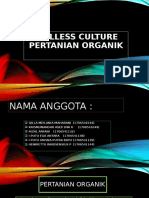 SOILLESS CULTURE PERTANIAN ORGANIK ppt fix