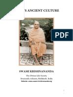 India's Ancient Culture - Swami Krishnananda