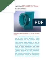 SERVICOS PLATINUM_Projeto em 3D