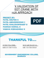 design & validation of eot crane