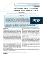Optimization of Coconut Butter