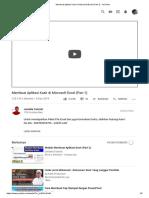 Membuat Aplikasi Kasir di Microsoft Excel (Part 1) - YouTube