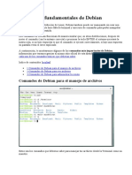 Comandos fundamentales de Debian