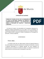 Borrador Orden Declaracion Centros Especial Atencion Educacion CEA 2019