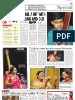 Pragathi Gopalapuram Concert - Deccon Cronicle Coverage